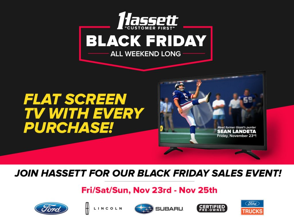 HASSET BLACK FRIDAY - FLAT SCREEN TV WITH EVERY PURCHASE